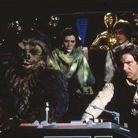 Star Wars: Episode VI - Die Rückkehr der Jedi-Ritter : Bild Carrie Fisher, Harrison Ford, Mark Hamill