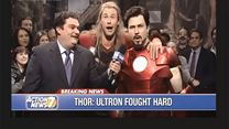 Chris Hemsworth - Thor And Avengers Celebrate Beating Ultron In SNL Sketch