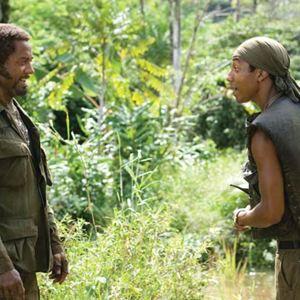 Tropic Thunder : Bild Ben Stiller, Brandon T. Jackson, Robert Downey Jr.