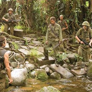 Tropic Thunder : Bild Ben Stiller, Brandon T. Jackson, Jack Black, Jay Baruchel, Jeff Portnoy