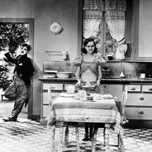 Der große Diktator : Bild Charles Chaplin, Paulette Goddard