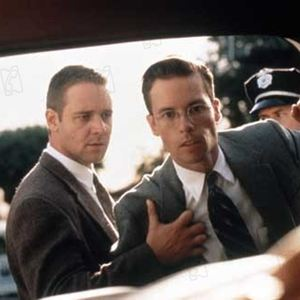 L.A. Confidential : Bild Curtis Hanson, Guy Pearce, Russell Crowe