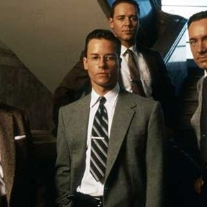 L.A. Confidential : Bild Guy Pearce, James Cromwell, Kevin Spacey, Russell Crowe