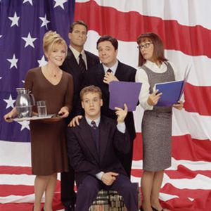 Bild Laurie Metcalf, Nathan Lane, Stephanie Faracy, T.R. Knight, Ted McGinley