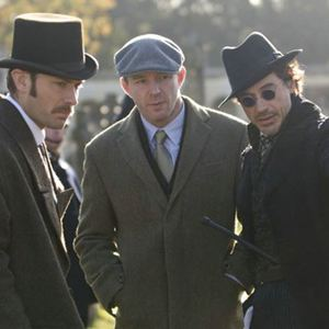 Sherlock Holmes : Bild Guy Ritchie, Jude Law, Robert Downey Jr.