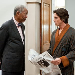 The Dark Knight Rises : Bild Christian Bale, Morgan Freeman