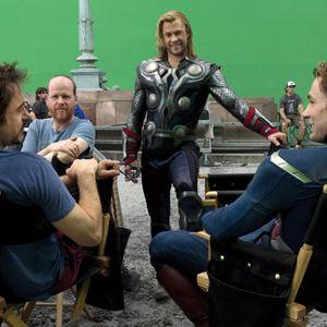 Marvel's The Avengers : Bild Chris Hemsworth, Joss Whedon, Robert Downey Jr.