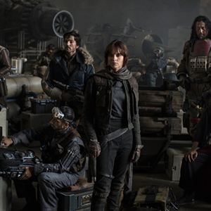 Rogue One: A Star Wars Story : Bild Diego Luna, Donnie Yen, Felicity Jones, Jiang Wen, Riz Ahmed