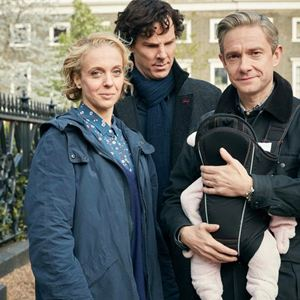 Bild Amanda Abbington, Benedict Cumberbatch, Martin Freeman