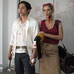 Mayhem : Bild Samara Weaving, Steven Yeun