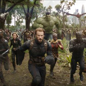 Avengers 3: Infinity War : Bild Chadwick Boseman, Chris Evans, Danai Gurira, Don Cheadle, Mark Ruffalo