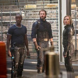 Avengers 3: Infinity War : Bild Chris Evans, Don Cheadle, Scarlett Johansson