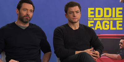 """""""Ich gucke gerne Sturz-Videos"""": Das rmarketing.com-Interview zu """"Eddie The Eagle"""" mit Hugh Jackman, Taron Egerton und Regisseur Dexter Fletcher"""