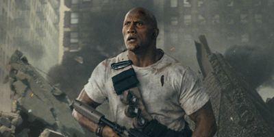 """""""Rampage"""": Dwayne Johnson und ein Riesenaffe auf dem ersten Poster zur Videospielverfilmung"""
