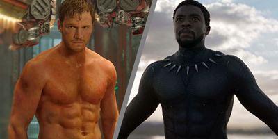"""Versautes Selfie: Chris Pratt neckt seinen """"Avengers 3""""-Kollegen Chadwick Boseman"""