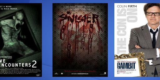 "Neue Poster: ""Gambit"" mit Colin Firth + ""Silent Hill 2: Revelation"", ""Grave Encounters 2"" und ""Sinister"""