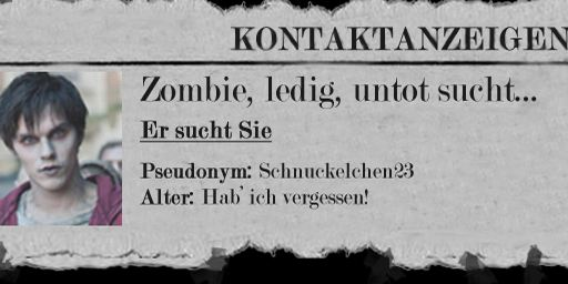 """Warm Bodies"": Zombie, ledig, untot sucht..."