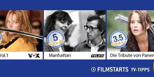 Die FILMSTARTS-TV-Tipps (7. bis 13. November 2014)