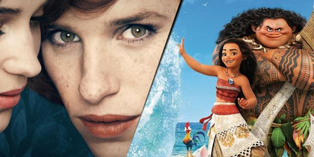 """Kinojahr 2016: """"Vaiana"""" und """"The Danish Girl"""" als die Lieblingsfilme der Deutschen"""