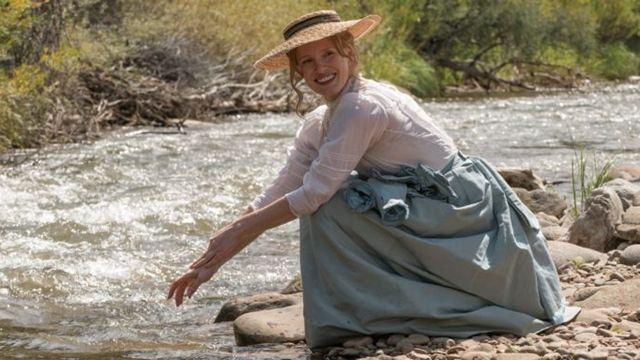 """Jessica Chastain als """"Die Frau, die vorausgeht"""": Deutscher Trailer zum Westerndrama mit Sam Rockwell"""