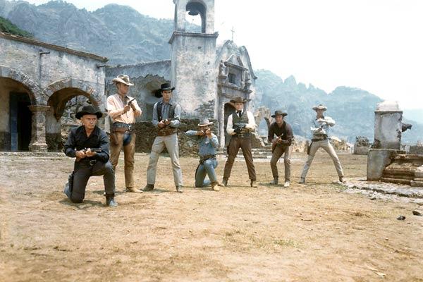 Die glorreichen Sieben : Bild Brad Dexter, Charles Bronson, Horst Buchholz, James Coburn, John Sturges
