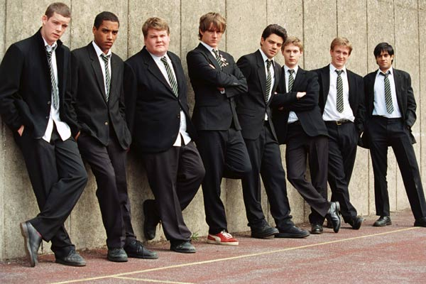 Die History Boys : Bild Andrew Knott, Dominic Cooper, James Corden, Jamie Parker, Nicholas Hytner