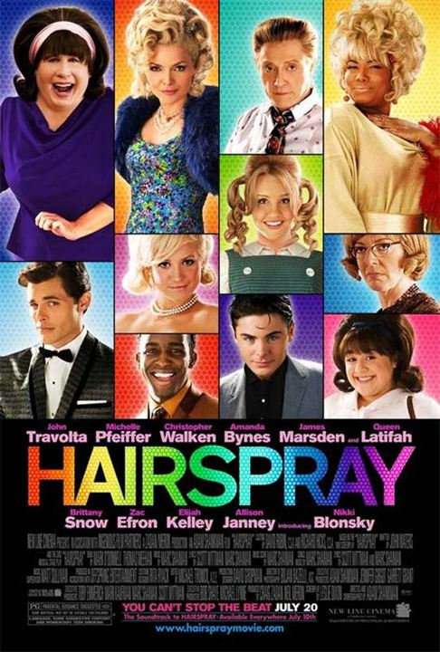 Hairspray : Kinoposter Adam Shankman, Christopher Walken, Elijah Kelley, Nikki Blonsky