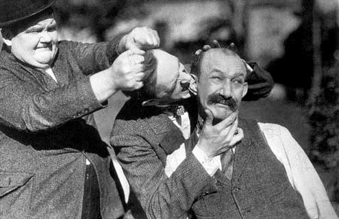 Bild Leo McCarey, Oliver Hardy, Stan Laurel