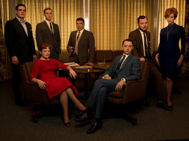 Mad Men : Bild Aaron Staton, Bryan Batt, Christina Hendricks, Elisabeth Moss, Michael Gladis
