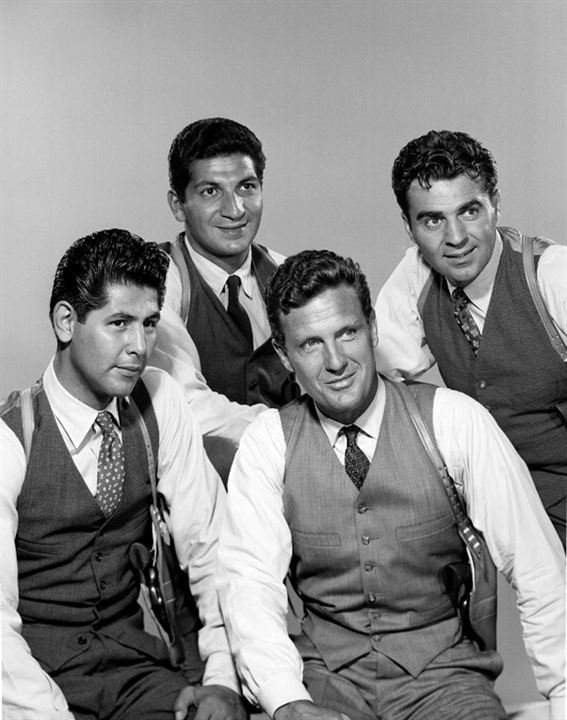 Bild Abel Fernandez, Paul Picerni, Robert Stack, Steve London