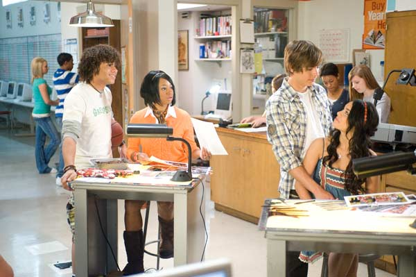 High School Musical 3 : Bild Corbin Bleu, Kenny Ortega, Monique Coleman, Vanessa Hudgens, Zac Efron