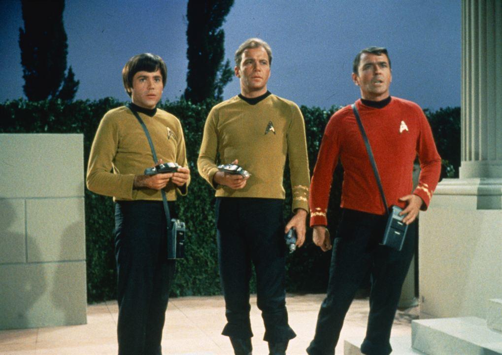 Raumschiff Enterprise : Bild James Doohan, Walter Koenig, William Shatner