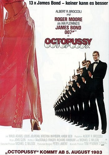 James Bond 007 - Octopussy : Kinoposter