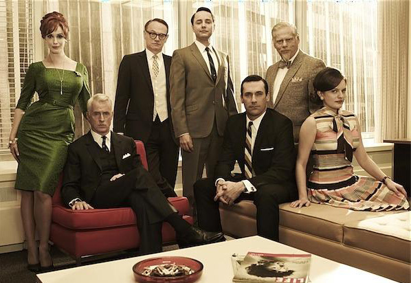 Mad Men : Bild Christina Hendricks, Elisabeth Moss, Jared Harris, John Slattery, Jon Hamm