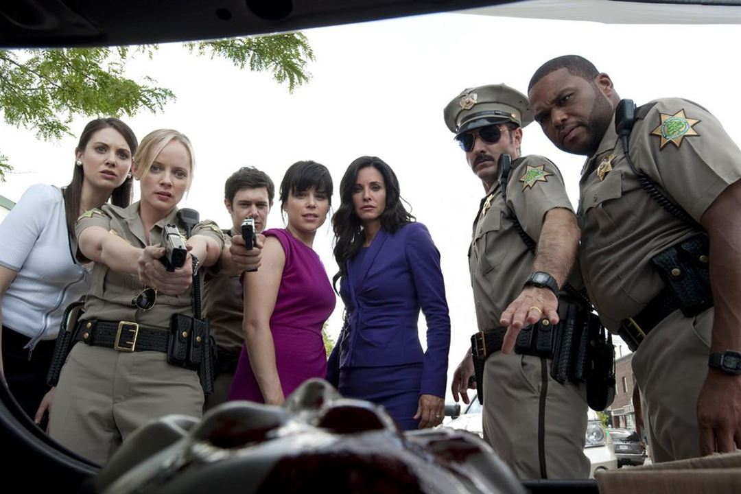 Scream 4 : Bild Adam Brody, Alison Brie, Anthony Anderson, Courteney Cox, David Arquette