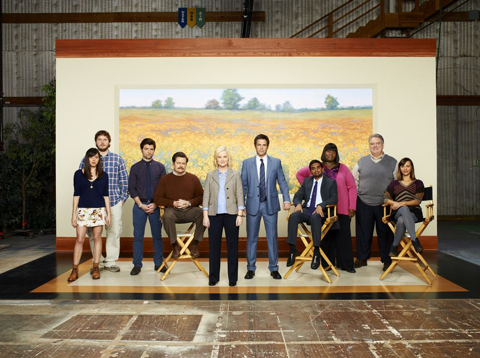 Parks And Recreation - Das Grünflächenamt : Bild Amy Poehler, Aubrey Plaza, Aziz Ansari, Chris Pratt, Nick Offerman