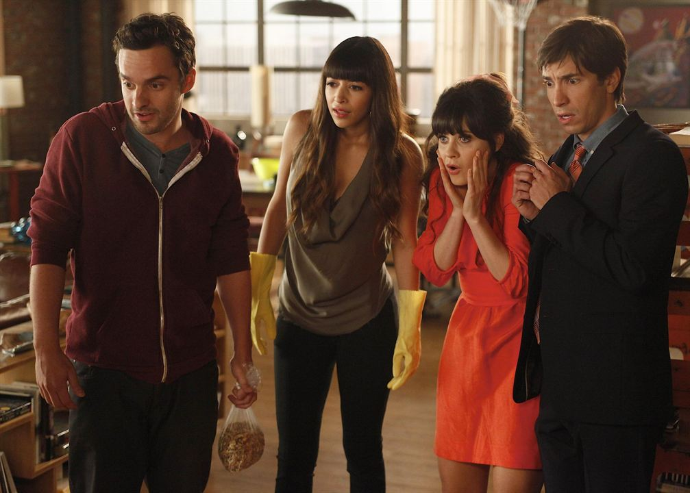 Bild Hannah Simone, Jake Johnson (XVI), Justin Long, Zooey Deschanel