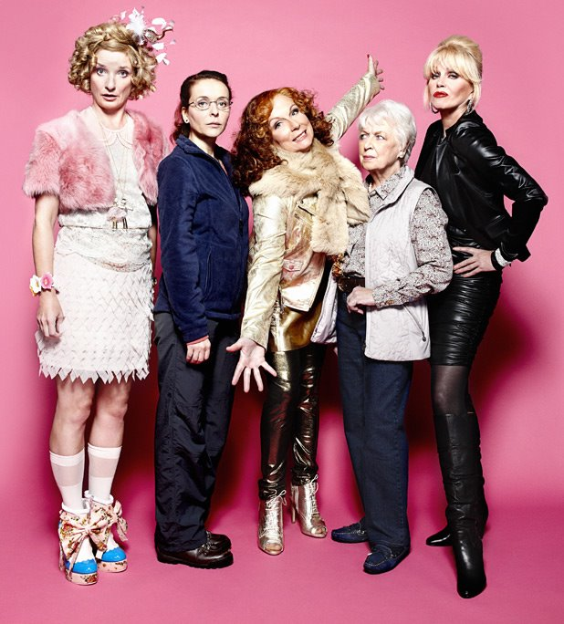 Bild Jane Horrocks, Jennifer Saunders, Joanna Lumley, Julia Sawalha, June Whitfield