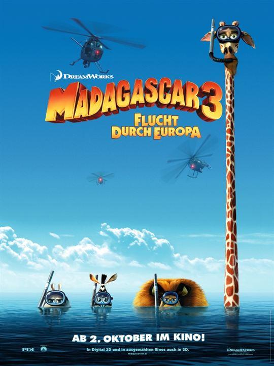 Madagascar 3: Flucht durch Europa : Kinoposter