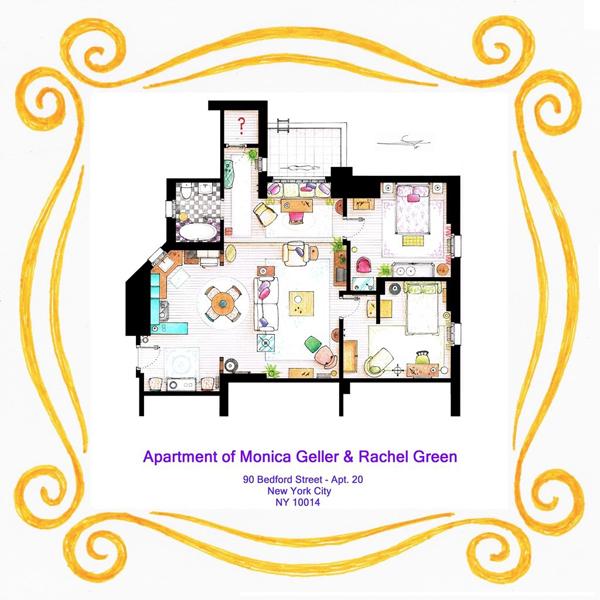 """Das Appartement von Monica und Rachel aus """"Friends"""""""