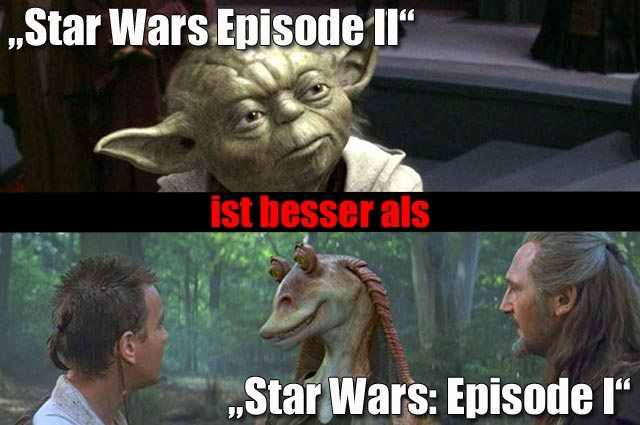 """""""Star Wars: Episode II - Angriff der Klonkrieger"""" (4 Sterne) Vs. """"Star Wars: Episode I - Die dunkle Bedrohung"""" (2,5 Sterne)"""