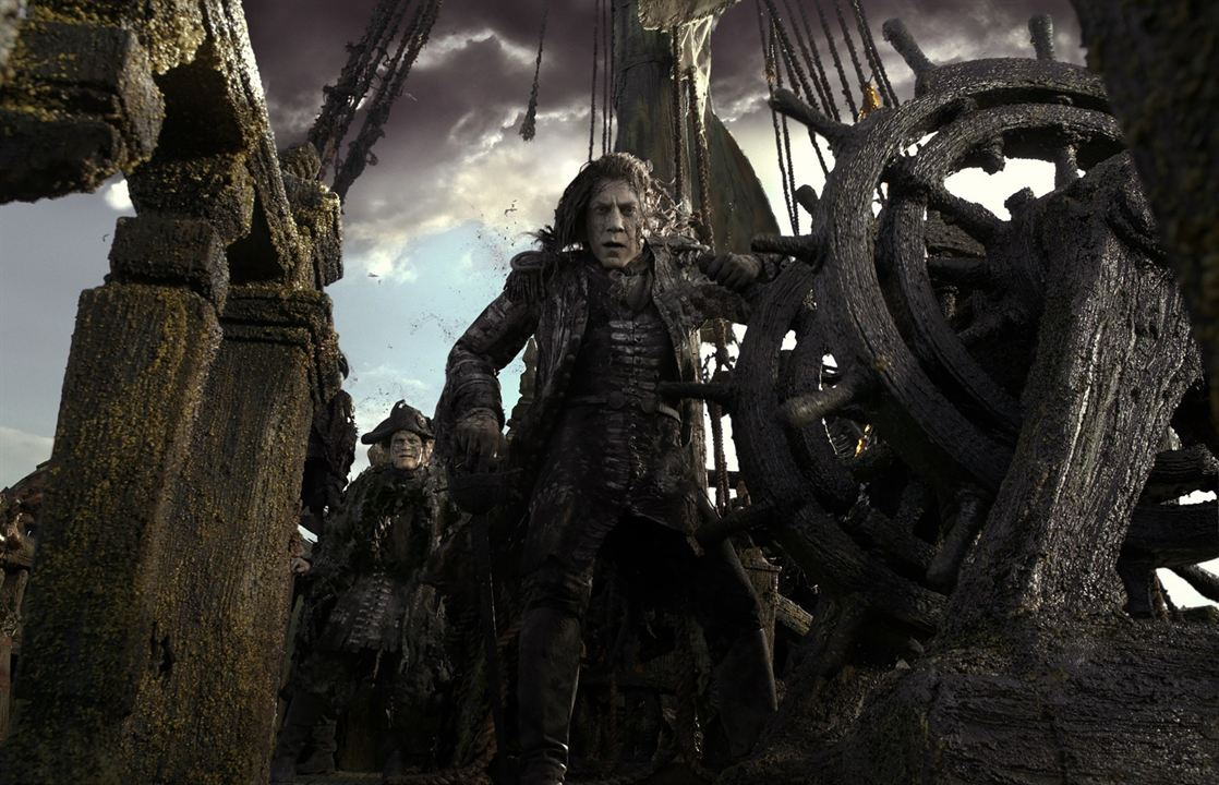 "Javier Bardem in ""Pirates Of The Caribbean 5: Salazars Rache"""
