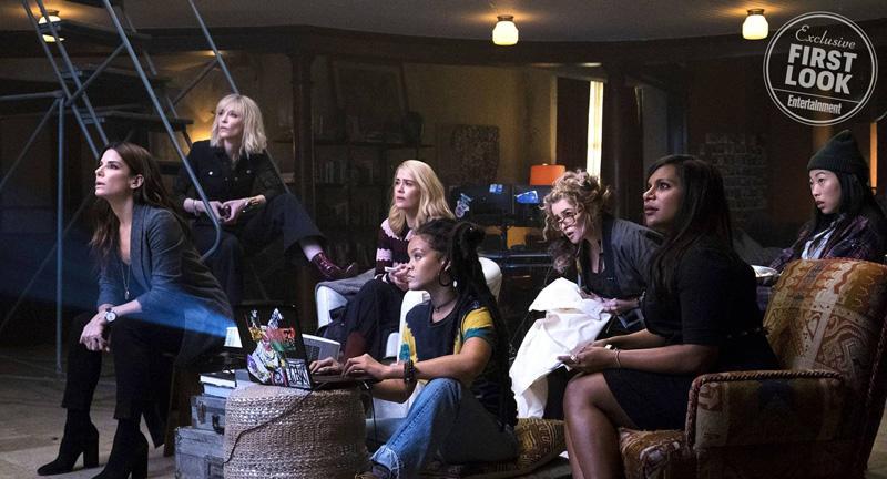 """Die Crew um Debbie Ocean (Sandra Bullock) plant in """"Ocean's Eight"""" ein großes Ding..."""