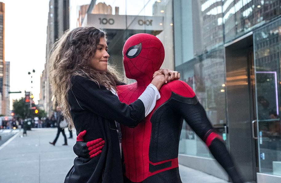 MJ (Zendaya) und Spider-Man (Tom Holland)
