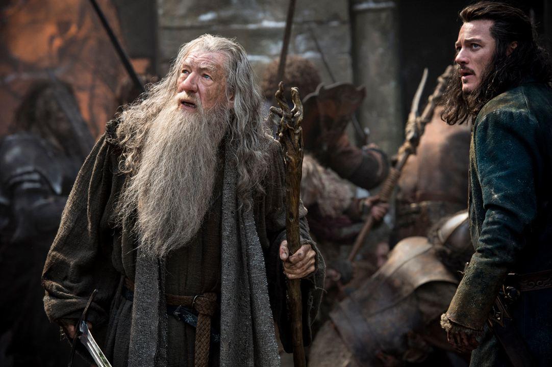 Der Hobbit: Die Schlacht der Fünf Heere : Bild Ian McKellen, Luke Evans