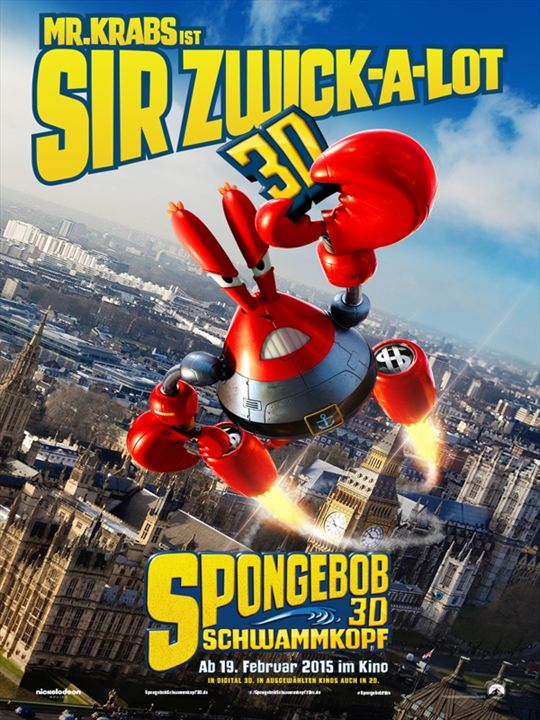 Der SpongeBob-Schwammkopf Film : Kinoposter