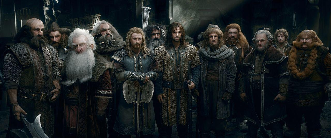 Der Hobbit: Die Schlacht der Fünf Heere : Bild Aidan Turner, Billy Connolly, Dean O'Gorman, Graham McTavish, Jed Brophy