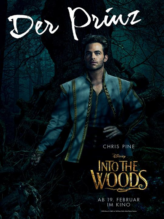 Into The Woods : Kinoposter Chris Pine