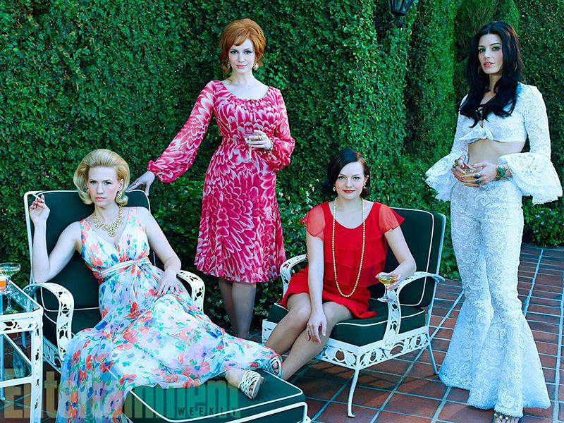 Bild Christina Hendricks, Elisabeth Moss, January Jones, Jessica Paré