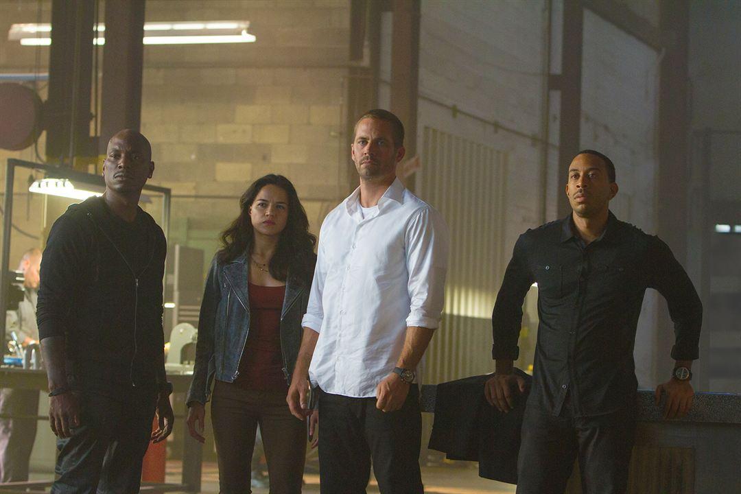 Fast & Furious 7 : Bild Ludacris, Michelle Rodriguez, Paul Walker, Tyrese Gibson